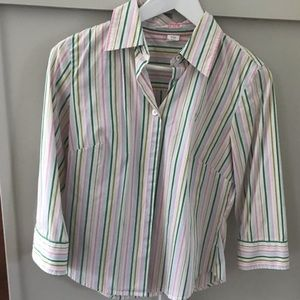 JCrew Button Up Shirt with 3/4 Sleeves